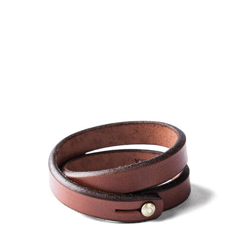 TANNER GOODS Double WristBand Brass, Hickory