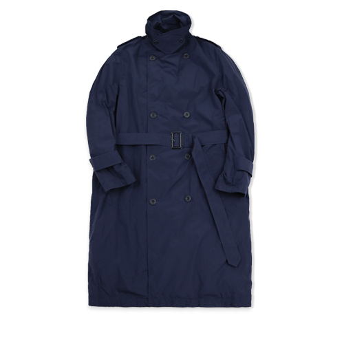 NYUZELESS Water Repllent Trench Long Down Coat, Navy