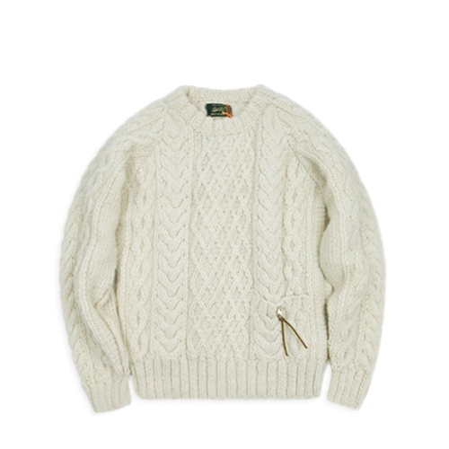 BARNS OUTFITTERS Br-6882 Knit Crew, Ivory