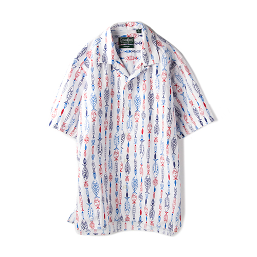 GITMAN VINTAGE 6Q454GVCP Vintage Camp Shirt,  White