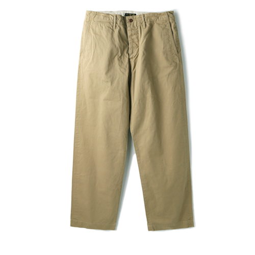 A VONTADE Type 45 Chine Trousers Wide Fit, Beige