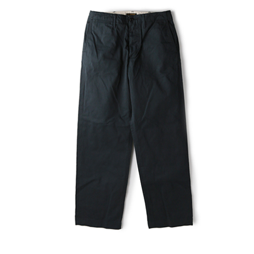 A VONTADE Type 45 Chine Trousers Wide Fit, Dark Navy