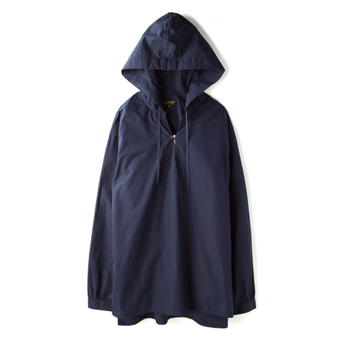 A VONTADE Hooded Skipper Shirt, Dark Navy