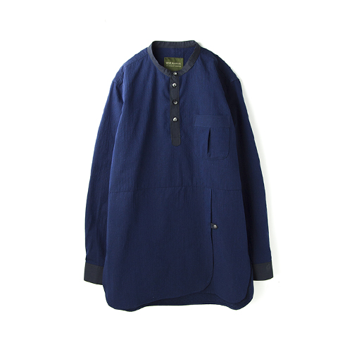 QLAD MUSEUMButterfly Pullover JQ Shirt, Navy