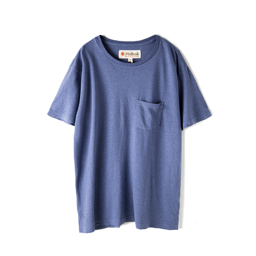 MOLLUSK SURF Hemp Pocket T,  Bright Indigo