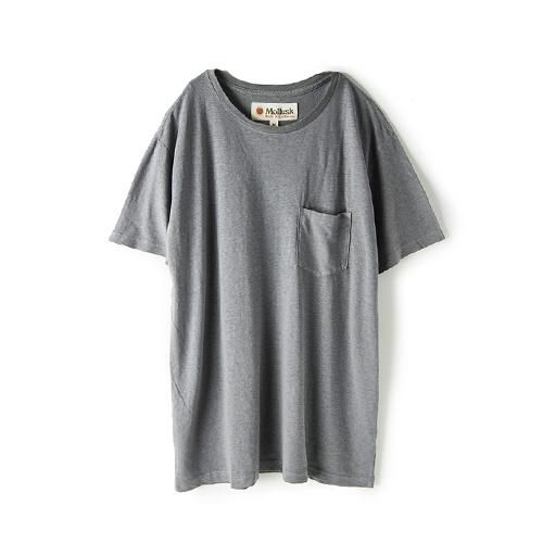 MOLLUSK SURF Hemp Pocket T,  Cloud Grey