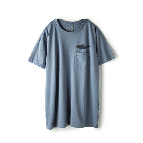 MOLLUSK SURF Dolphin Tee,  Light Indigo