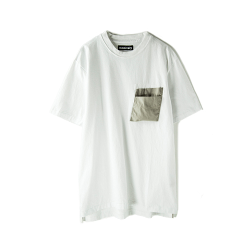 MONITALY S/S Hammer Pocket Tee,  White