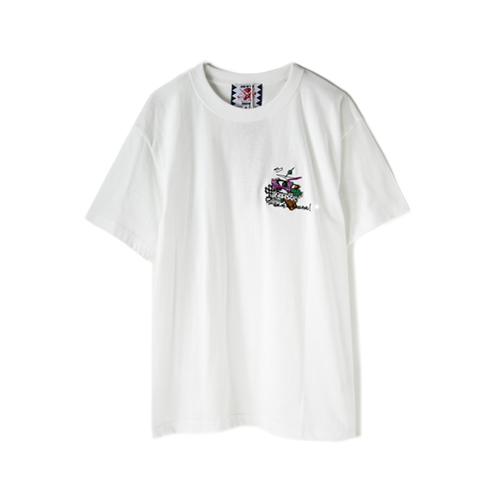 SON OF THE CHEESE Embroidery Tee, White
